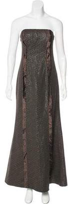 Carlos Miele Jacquard Evening Dress