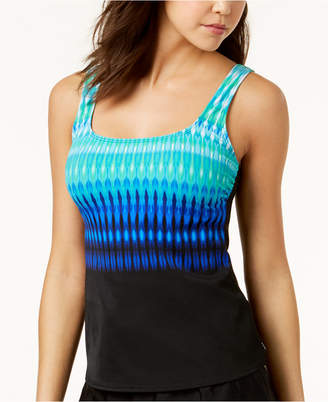 Reebok Trailblazer Printed Tankini Top, Created for Macy's Women's Swimsuit