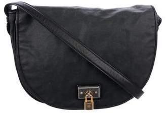 Loewe Leather-Trimmed Crossbody Bag