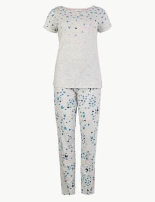 Marks and Spencer Butterfly Print Short Sleeve Pyjama Set