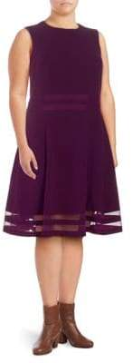 Calvin Klein Plus Stripe A-Line Dress