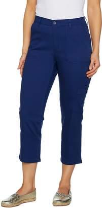 Denim & Co. Stretch Twill Crop Pant with Cargo Pocket