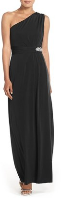 Women's Ellen Tracy Embellished Jersey Fit & Flare Gown $168 thestylecure.com