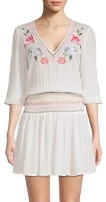 Shoshanna Floral Smocked Dress
