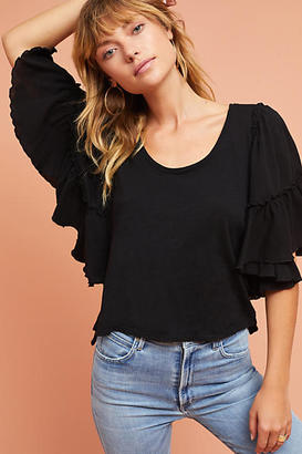 Bordeaux Candace Ruffled Top $58 thestylecure.com