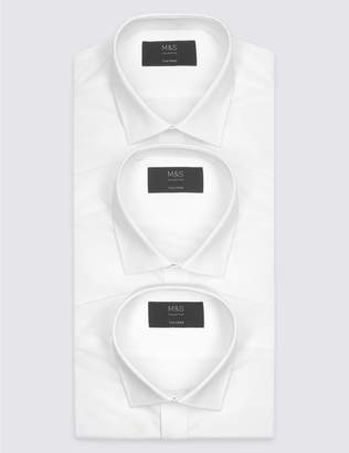 Marks and Spencer 3 Pack Short Sleeve Tailored Fit Shirts