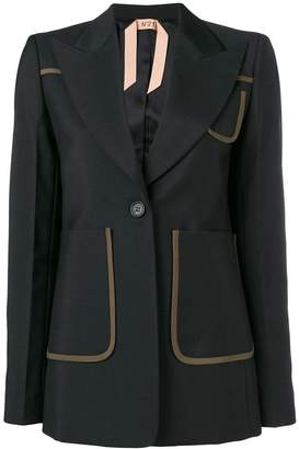 No.21 sequin back contrast trim blazer