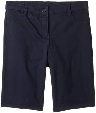 Nautica Girls Plus Five-Pocket Sateen Bermuda Shorts Girl's Shorts