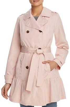 Kate Spade Flounced Hem Trench Coat