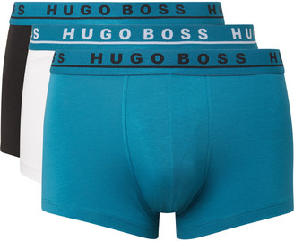 HUGO BOSS Three-Pack Stretch-Cotton Boxer Briefs - Men - Multi