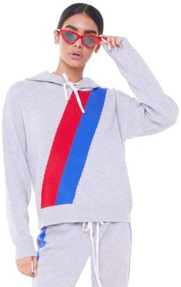 Juicy Couture Stripe Cashmere Hooded Pullover