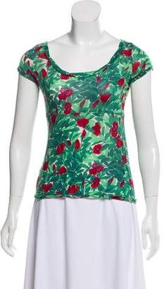 Marni Floral Scoop Neck T-Shirt