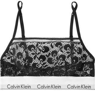 Calvin Klein Underwear Stretch-lace Soft-cup Bra - Black