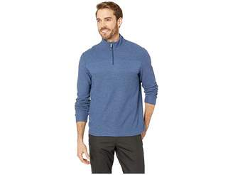 Perry Ellis Regular Fit 1/4 Zip Jacquard Sweater