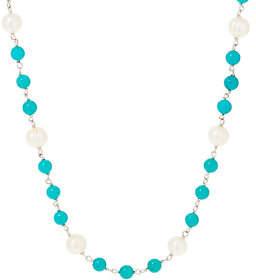 Honora Cultured Pearl & Gemstone Bead NecklaceSterling