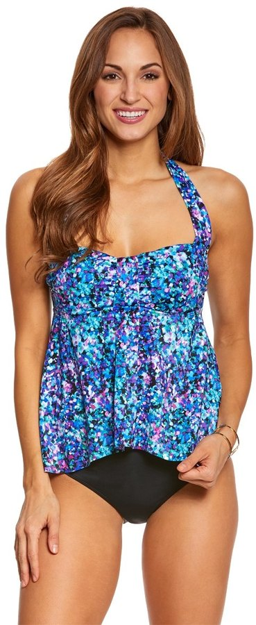 Eco Swim Wildflower Bandeau Tankini Top 8152978