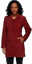 Denim & Co. Washable Suede Button Front Jacketwith Pockets