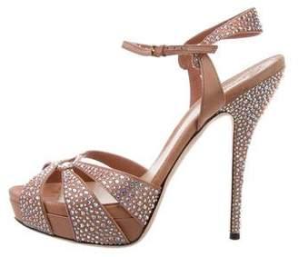 Gucci Jewel-Embellished Platform Sandals