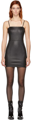 Alexander Wang Black Leather Cami Dress