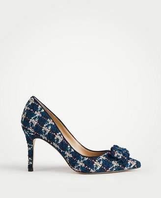 Ann Taylor Eloise Tweed Bow Pumps