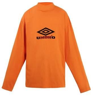 Vetements - X Umbro Long Sleeved Jersey T Shirt - Mens - Orange