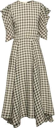 Anna October Annushka Checked Seersucker Maxi Dress
