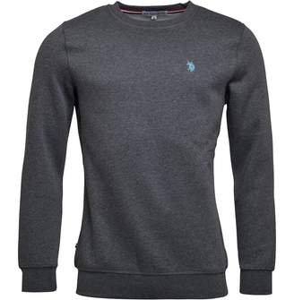U.S. Polo Assn. Mens Cromwell Sweat Dark Grey Marl