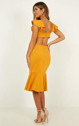 Showpo Sunset Dates Dress in mango - 6 (XS) Dresses