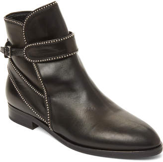 Alaia Black Studded Leather Ankle Boots