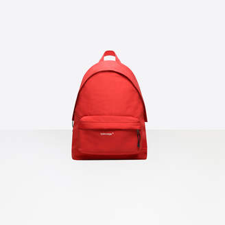 Balenciaga Canvas backpack with embroidered trademark label on the pocket