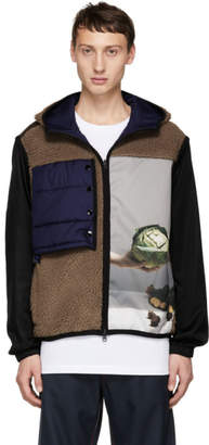 3.1 Phillip Lim Brown Reversible Hooded Sherpa Jacket
