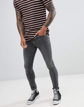 Burton Menswear super skinny jeans in grey