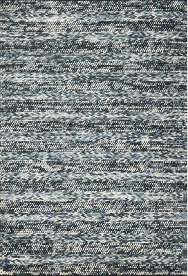 Wade Logan Ambridge Hand-Woven Wool Azure Area Rug