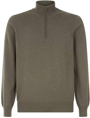 Brunello Cucinelli Cashmere Half Zip Sweater