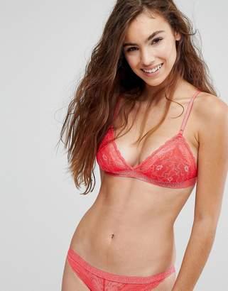 Bonds Red Lace Triangle Bra