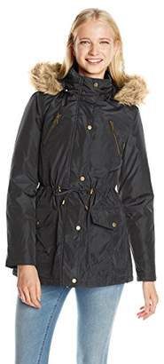Madden Girl Women's Anorak Parka Jacket with Faux-Fur Trim Hood $30.77 thestylecure.com