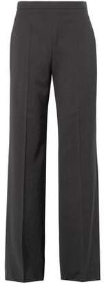 Burberry Wyhill Grain De Poudre Wool Flared Pants
