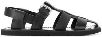 Prada caged gladiator sandals