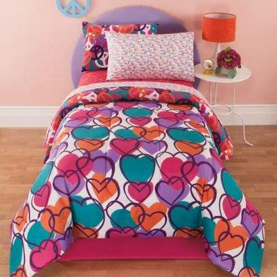Kidz Mix Leeanne 6-Piece Reversible Twin Comforter Set in Fuchsia