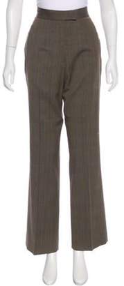 Richard Tyler High-Rise Wool Pants Brown High-Rise Wool Pants