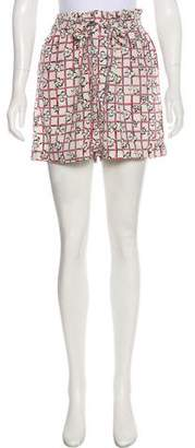 Piamita Printed Mini Shorts