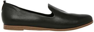 Alberta Black Leather Flat
