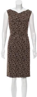 Balenciaga Textured Sleeveless Dress