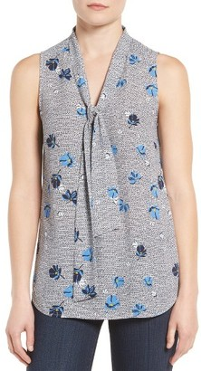 Women's Halogen Tie Neck Sleeveless Blouse $59 thestylecure.com
