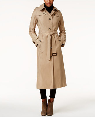London Fog Hooded Water-Resistant Maxi Trench Coat $220 thestylecure.com
