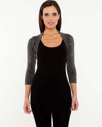 Le Château Metallic Open-Front Shrug