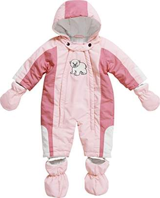 Playshoes Baby Girls 0-24M Fleece Lined Overall Polar Bear Snowsuit,(Manufacturer Size:68cm)