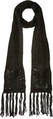 Betsey Johnson Sequins Shine Muffler Scarves
