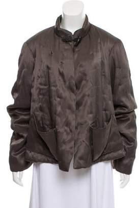 Urban Zen Stand-Up Collar Short Coat