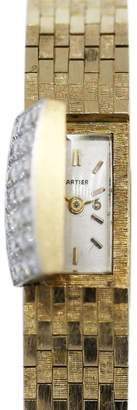 14K Yellow Gold Backwinding 0.56ct. Diamond Covered 9.5mm Womens Vintage Watch